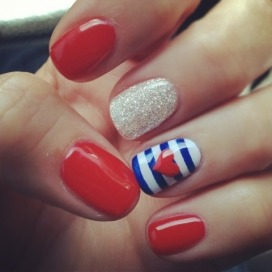 red_nail_art_blue_stripes_heart